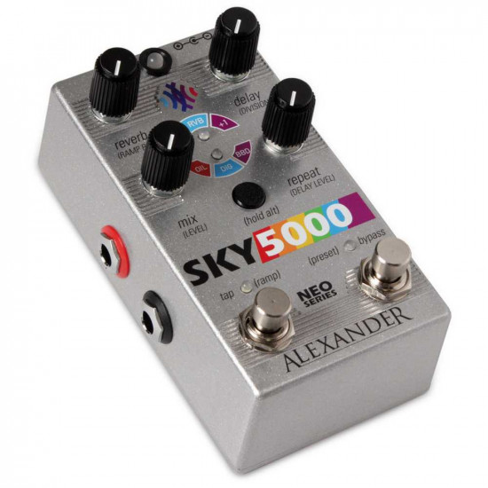 New Gear Day Alexander Pedals Sky 5000 Reverb and Delay Pedal