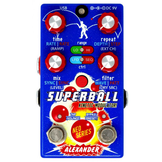 New Gear Day Alexander Pedals Superball Kinetic Modulation Guitar Effects Pedal