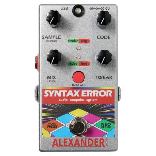 Alexander Pedals Syntax Error Glitch Guitar Effects Pedal