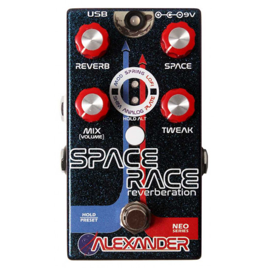 New Gear Day Alexander Space Race Reverb Guitar Effects Pedal