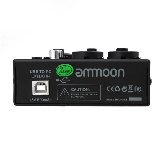 Ammoon AGM02 Mini 2-Channel Sound Card