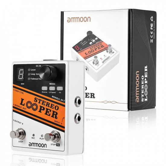 Ammoon STEREO LOOPER Loop Record Guitar Effects Pedal