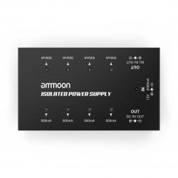 Ammoon Compact Size Guitar Effect Power Supply 8Isolated DC Outputs for 9V/18V Guitar Effects