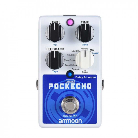 Ammoon POCKECHO Delay and Looper Guitar Effects Pedal