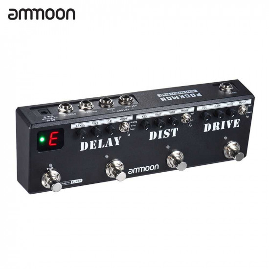 New Gear Day Ammoon POCKMON Multi-Effects Pedal Strip Guitar Effects Pedal