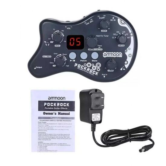 Ammoon PockRock Portable Guitar Multi Effects Processor Effect Pedal