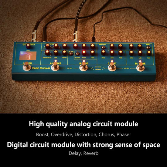 Ammoon CUBE SUGAR Combined Effects Pedal 5 Analog Effects