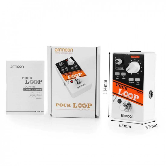 Ammoon POCK LOOP Looper Guitar Effect Pedal