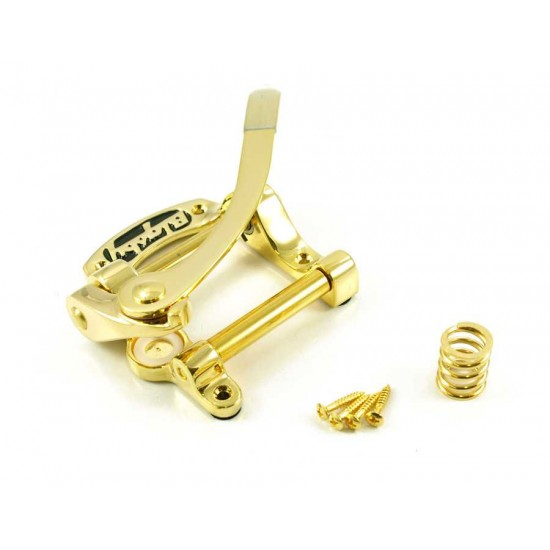 Bigsby USA B5 Vibrato Tailpiece for flat top solid body guitars - Gold