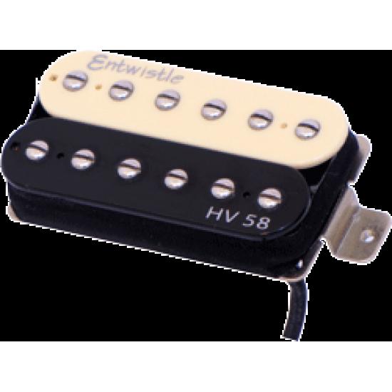 Entwistle HV 58 ZB Alnico 5 Bar Bridge Humbucker Nickel Pole Piece Pickup - Zebra for Electric Guitar