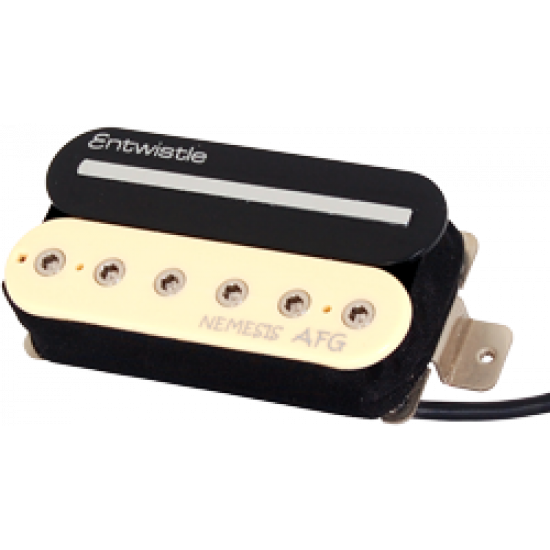 Entwistle Nemesis AFG Ceramic and Alnico Neck Humbucker Single Rail & Hex Screw for Electric Guitar
