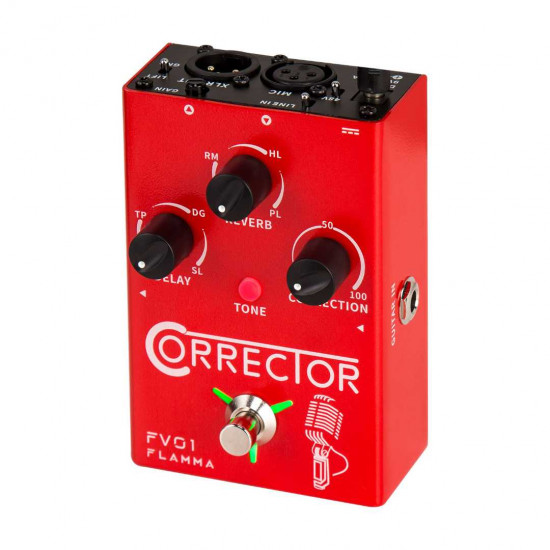 Flamma Innovation FV01 CORRECTOR Voice and Microphone Effects Pedal
