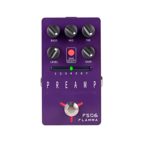 Flamma Innovation FS06 PREAMP Guitar Effects Pedal