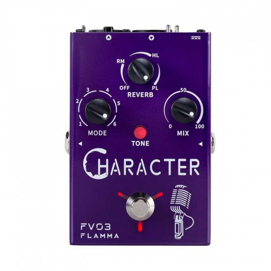 Flamma Innovation FV03 CHARACTER Voice and Microphone Effects Pedal