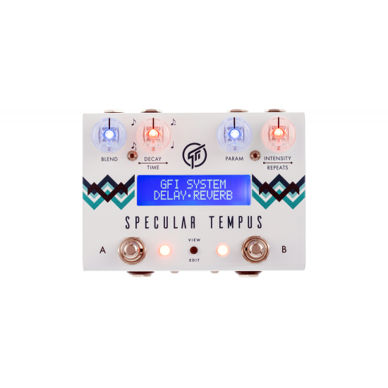 GFI System Specular Tempus Reverb and Delay Effects Pedal