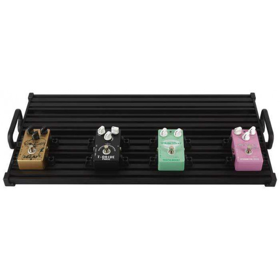 New Gear Day Guitto GPB-03 Effects Pedalboard with Softcase Mosky DC Core 10 and Pro-C Solderless 16 Kit