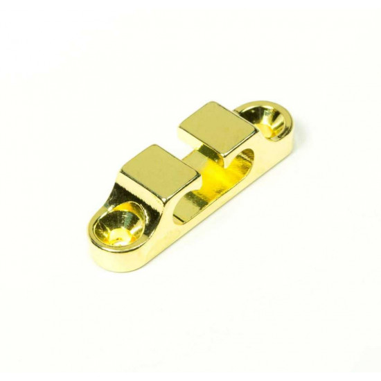 New Gear Day HIPSHOT Gold 2 String Retainer for Bass Guitars, Hipshot part number 405100G