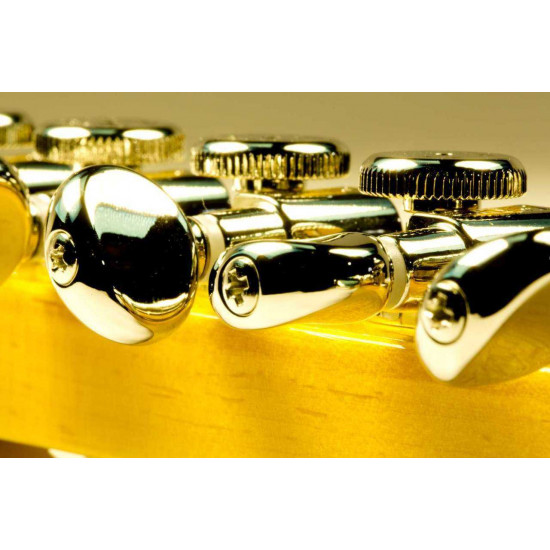 Hipshot Grip-Lock 6 Inline Staggered Nickel Locking Tuners With D05 Buttons