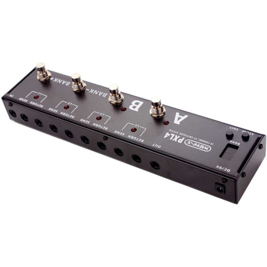 New Gear Day JOYO PXL4 Wave-X 4 Loop Effects Pedal Loop Switching System True Bypass