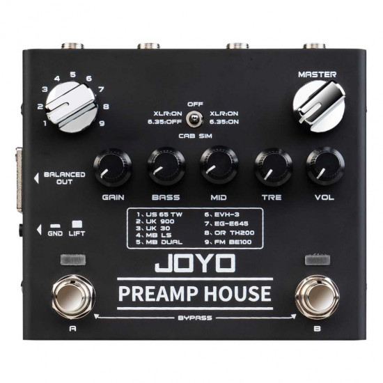 Joyo R-15 PREAMP HOUSE Preamp simulator Effects Pedal