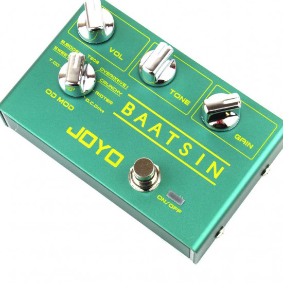 New Gear Day Joyo R-11 BAATSIN 8 Mode Overdrive and Distortion Guitar Effects Pedal