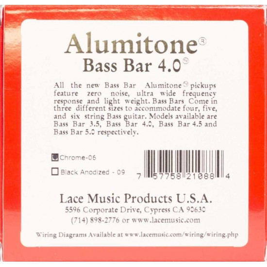 Lace Alumitone Bass Bar 4.0 - Chrome 210880-06