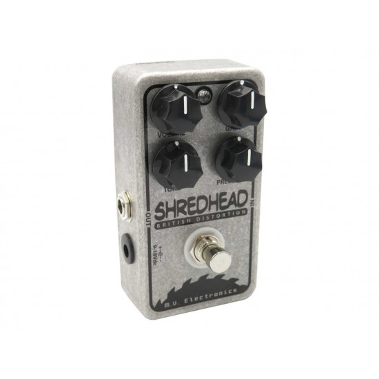 M.V. Electronics Shredhead Distortion Guitar Pedal with Free Patch Cable