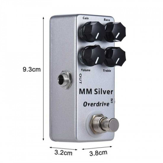 New Gear Day Mosky MM Silver Overdrive Effect Pedal