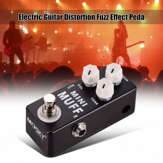 MOSKY MINI MUFF Electric Guitar Distortion Fuzz Effect Pedal Full Metal Shell True Bypass