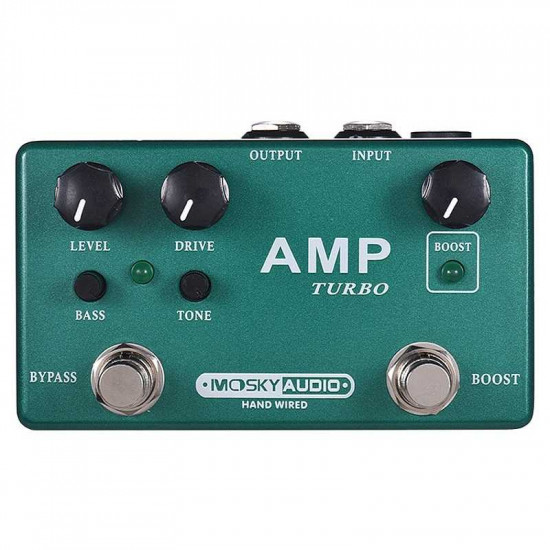 Mosky Amp Turbo Guitar Effect Pedal 2 In 1 Boost Overdrive Effects Pedal