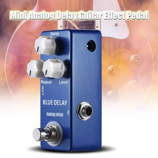 New Gear Day Mosky Blue Delay Guitar Effects Pedal