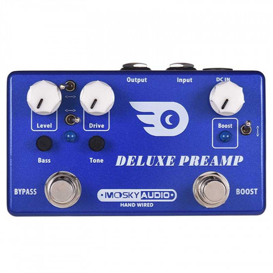 New Gear Day Mosky Deluxe Preamp Guitar Effect Pedal 2 In 1 Boost Classic Overdrive Effects