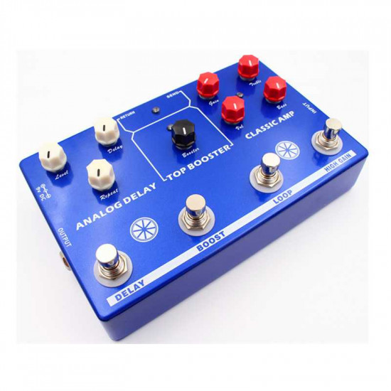 New Gear Day Mosky Tone Makestation 4 in 1 Guitar Effects Pedal