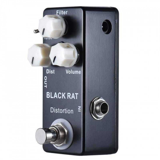 New Gear Day Mosky Black RAT Distortion Mini Guitar Effect Pedal