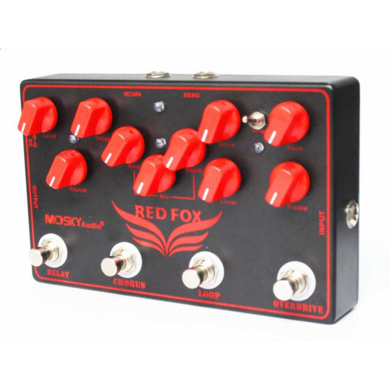 Mosky Red Fox 4 in 1 Guitar Effects pedal
