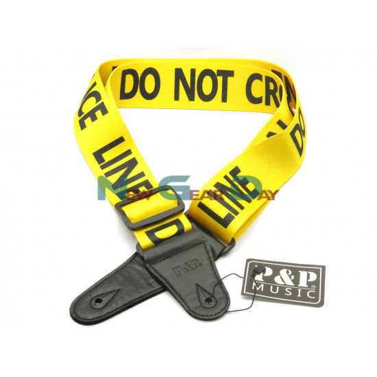 P&P S008-16 Police Line Do Not Cross Guitar Strap