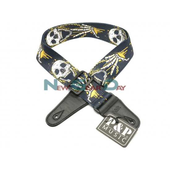 New Gear Day P&P S008-T Skull Guitar Strap