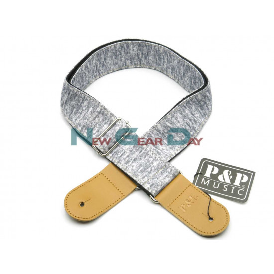 New Gear Day P&P S1677-C Silver Guitar Strap