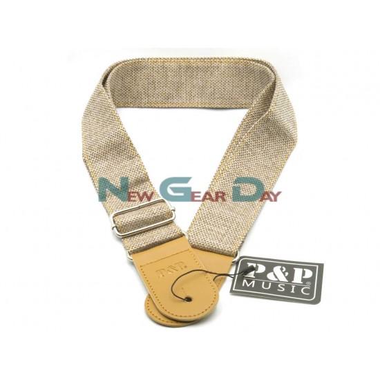 New Gear Day P&P S152-B Beige Guitar Strap