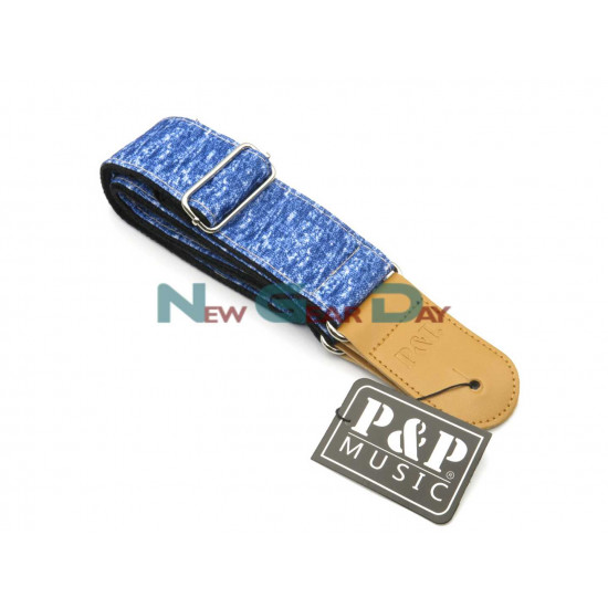New Gear Day P&P S1677-A Blue Guitar Strap