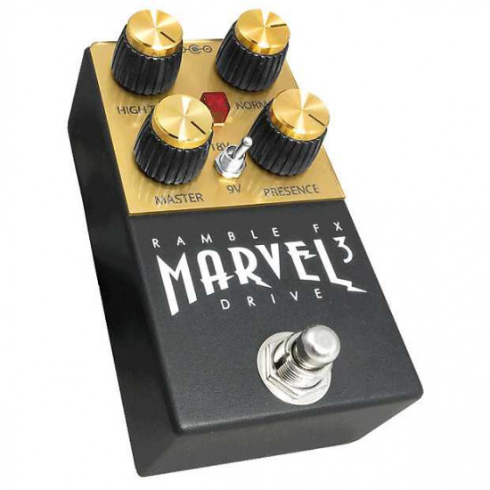Ramble FX Marvel Drive V3 Overdrive Effects Pedal - Black