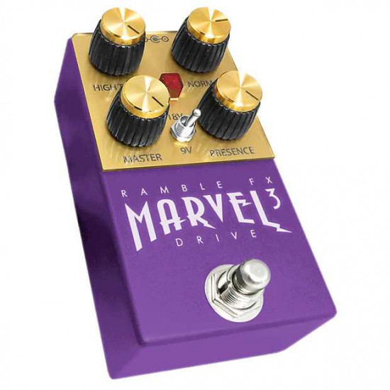 Ramble FX Marvel Drive V3 Overdrive Effects Pedal - Purple