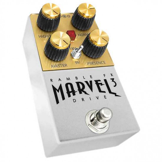 New Gear Day Ramble FX Marvel Drive V3 Overdrive Effects Pedal - White