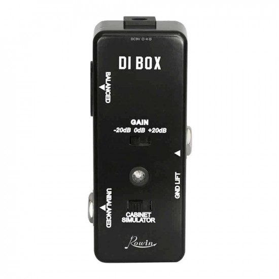 New Gear Day Rowin DI Box LEF-331 Guitar Effects Pedal With Cabinet Simulator