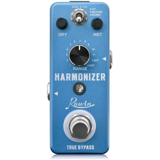 New Gear Day Rowin Harmonizer Effects Pedal Guitar LEF-3807 Aluminum Alloy Shell True Bypass Pedal Musical Instruments