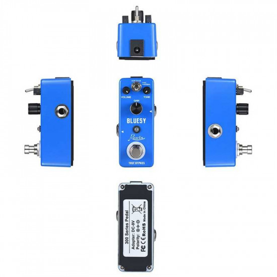 Rowin Lef-321 Bluesy Guitar Effect Pedal Overdrive Aluminum Alloy Shell True Bypass Pedal Musical Instruments