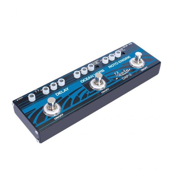 Rowin DAP-3 Guitar 3 in 1 Multi Effects Pedal