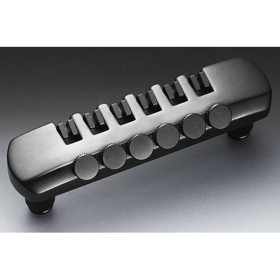 New Gear Day Schaller Germany Fine Tuning Tailpiece, Black Chrome 12070400