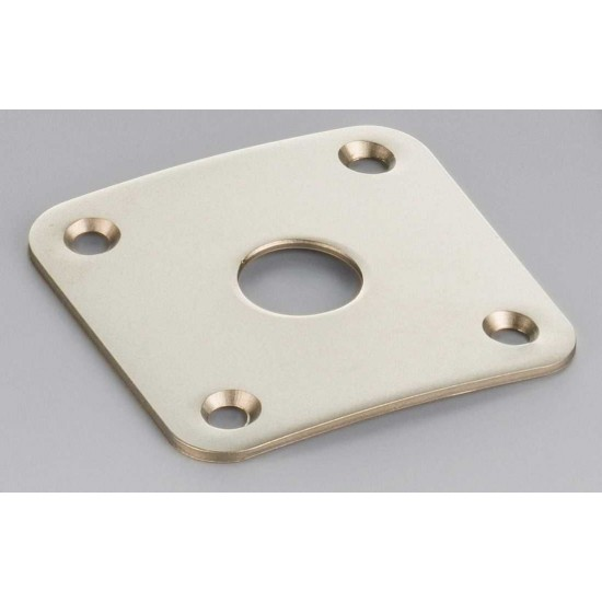 Schaller Germany Les Paul Style Jack Plate Satin Pearl 15190700
