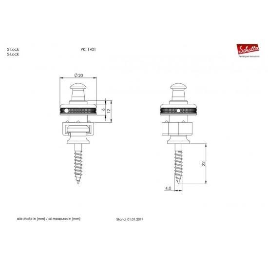Schaller S-Locks - Satin Chrome